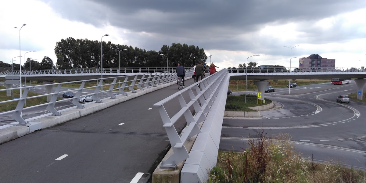 Fahrrad-Viadukt in den Niederlanden - Foto: Bas Bergervoet