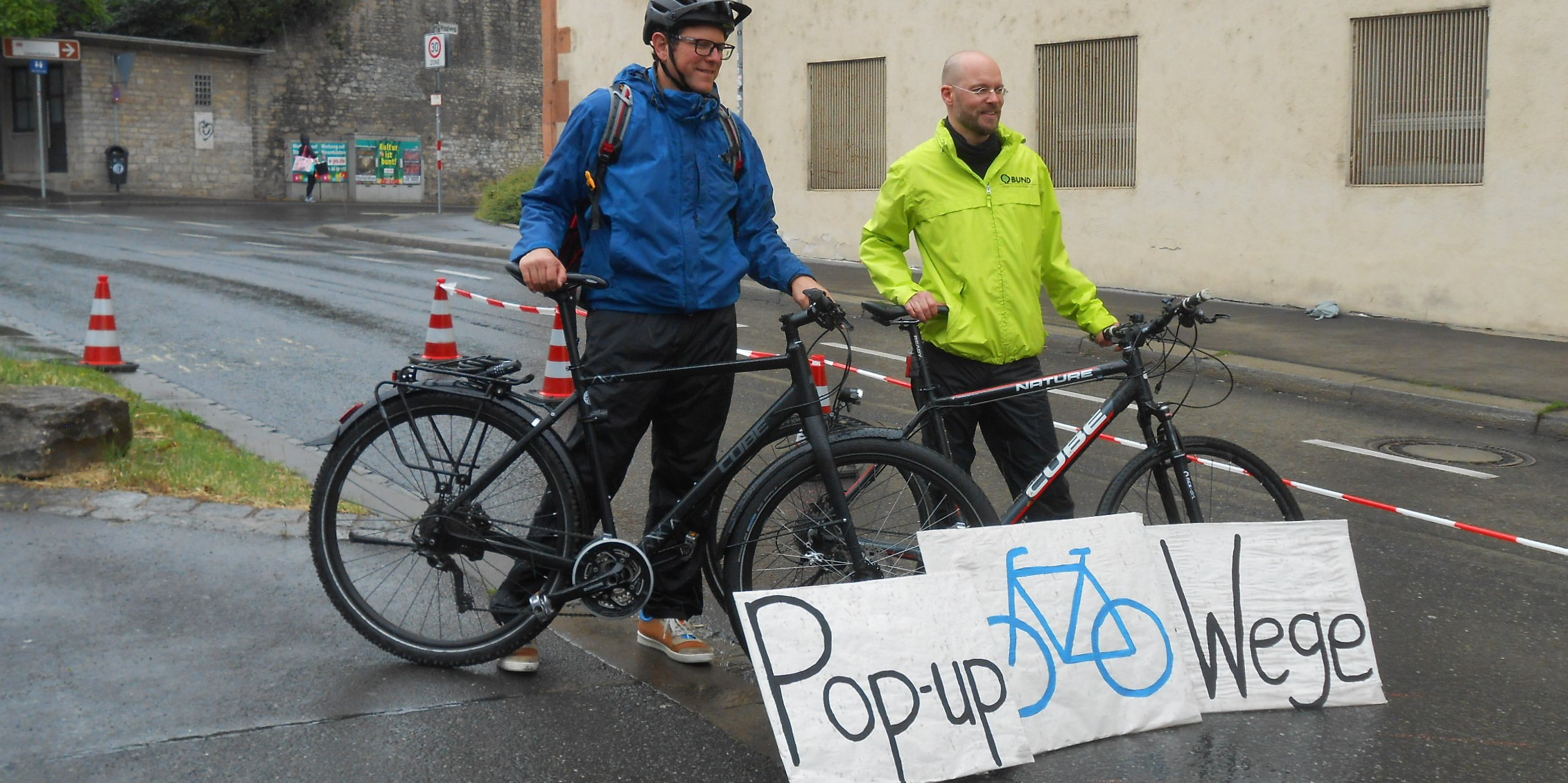 Pop-up-Bike-Lanes (Würzburg) - Foto: Leonie Keupp