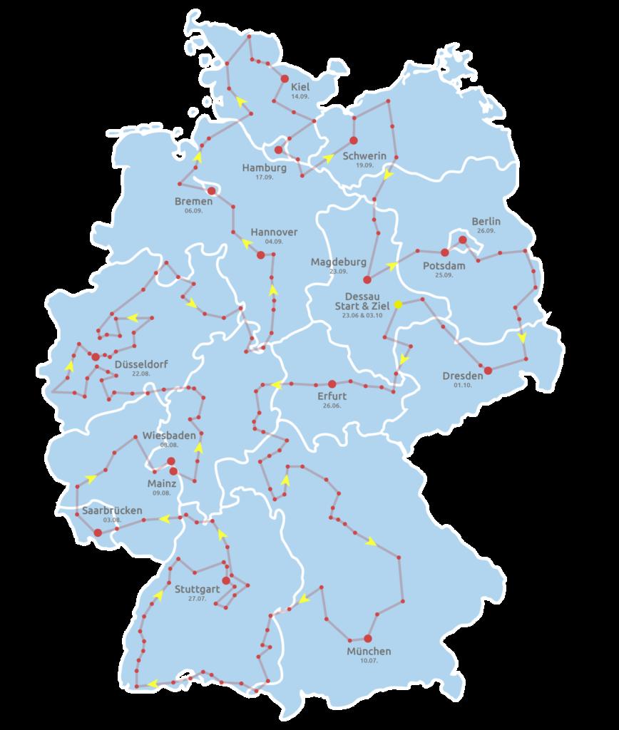 Karte Sommertour